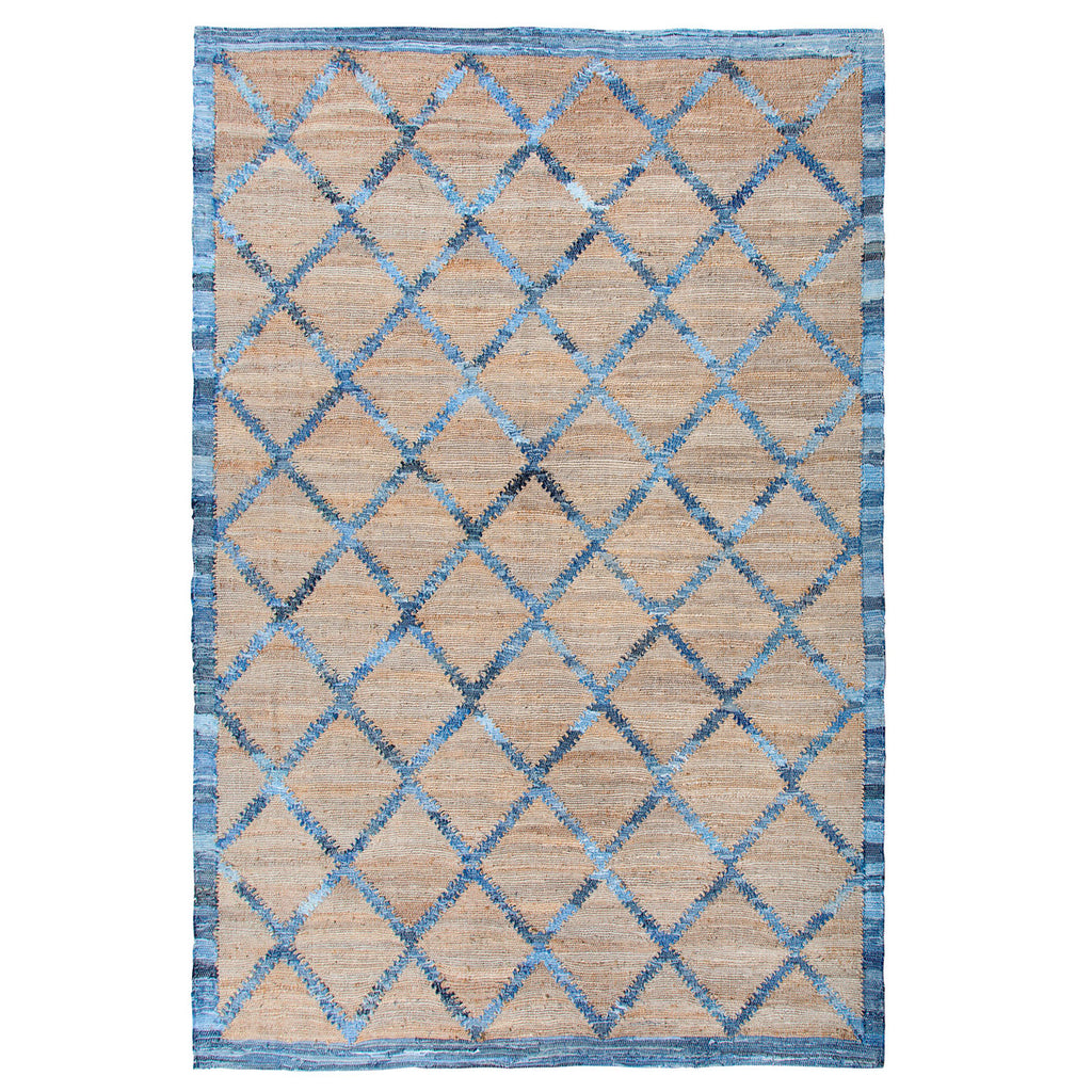 Window Diamonds Denim 5' x 8' Rug