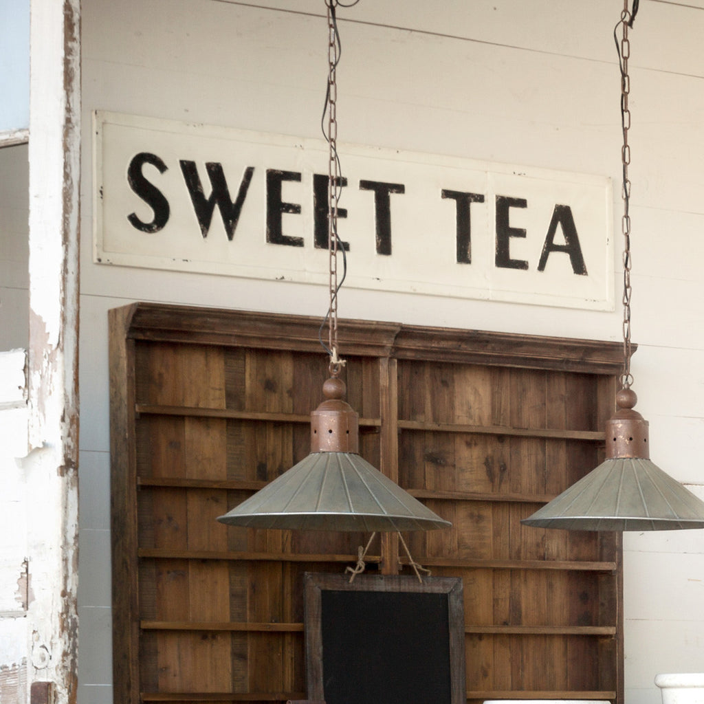 "Metal ""Sweet Tea"" Wall Sign"