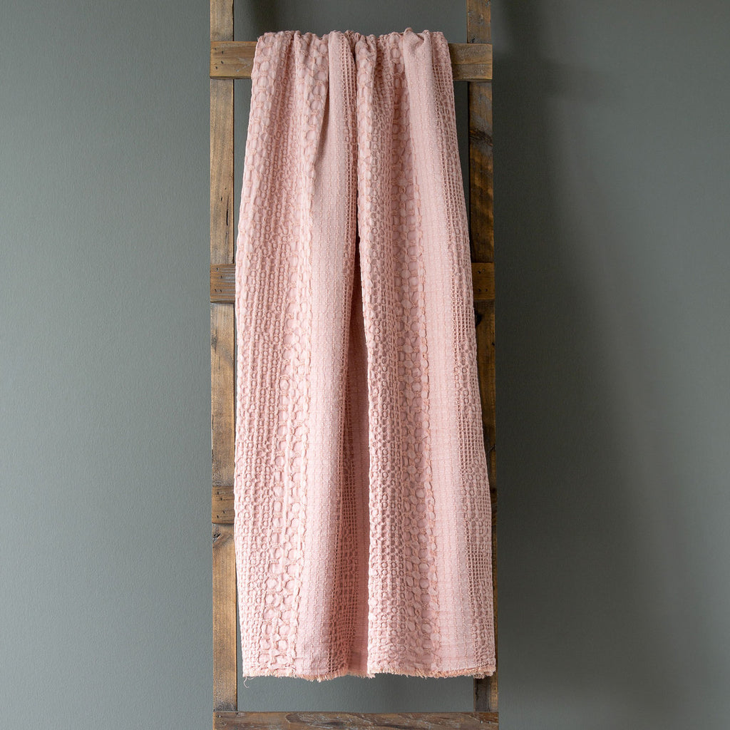 Coral Waffle Throw