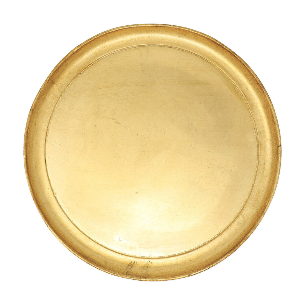 Florentine Wooden Accessories Gold Medium Round Tray