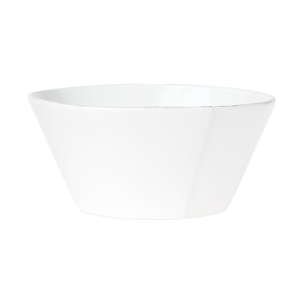 Lastra White Large Stacking Serving Bowl