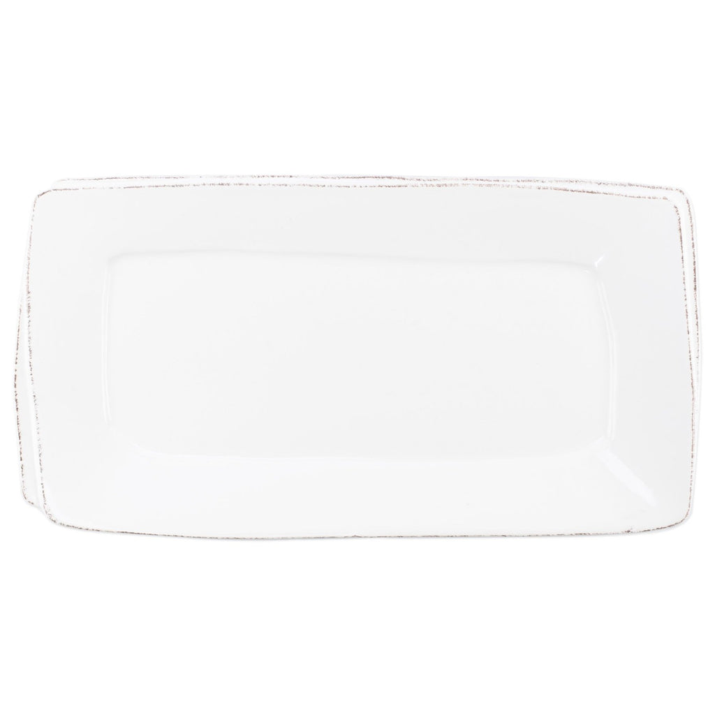 Lastra White Rectangular Platter