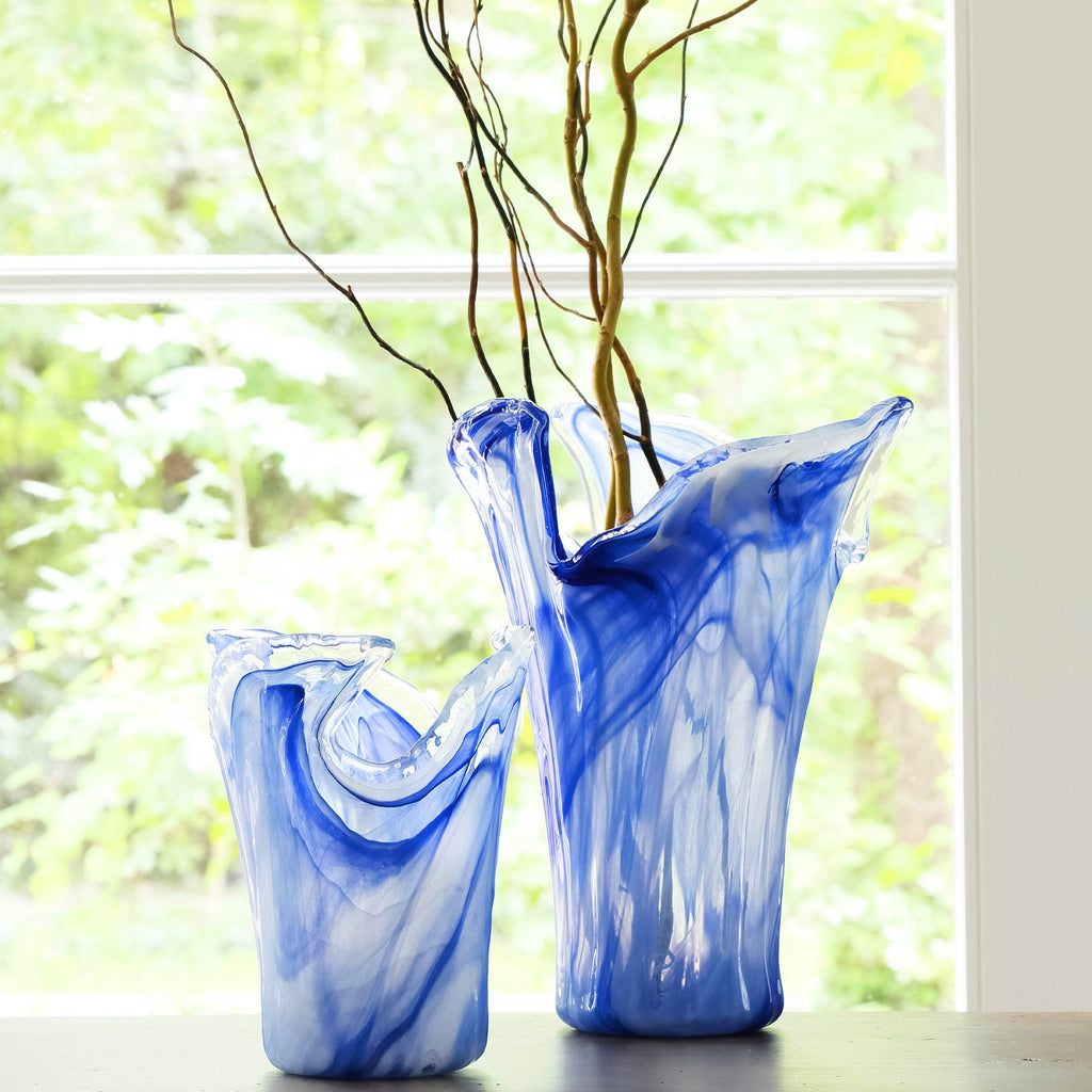 Onda Glass Cobalt Large Vase