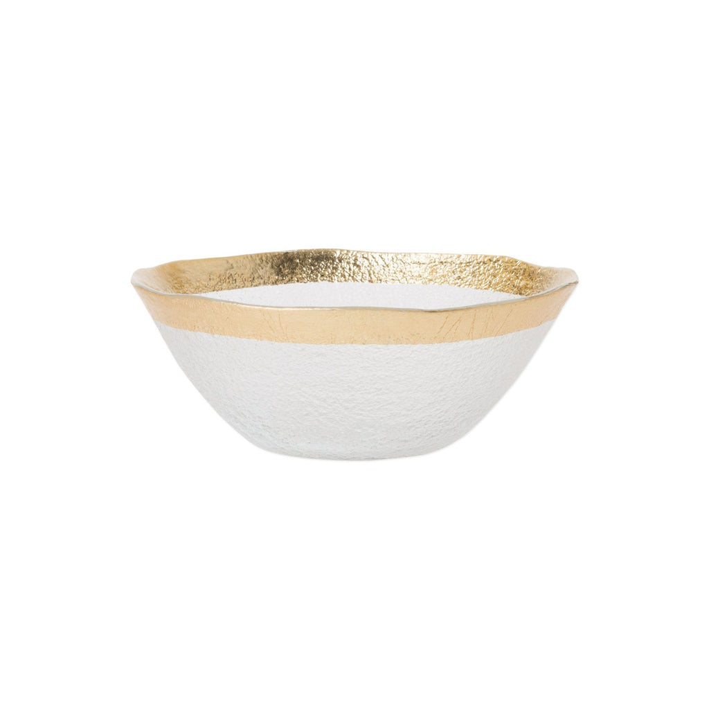 Rufolo Glass Gold Organic Small Bowl
