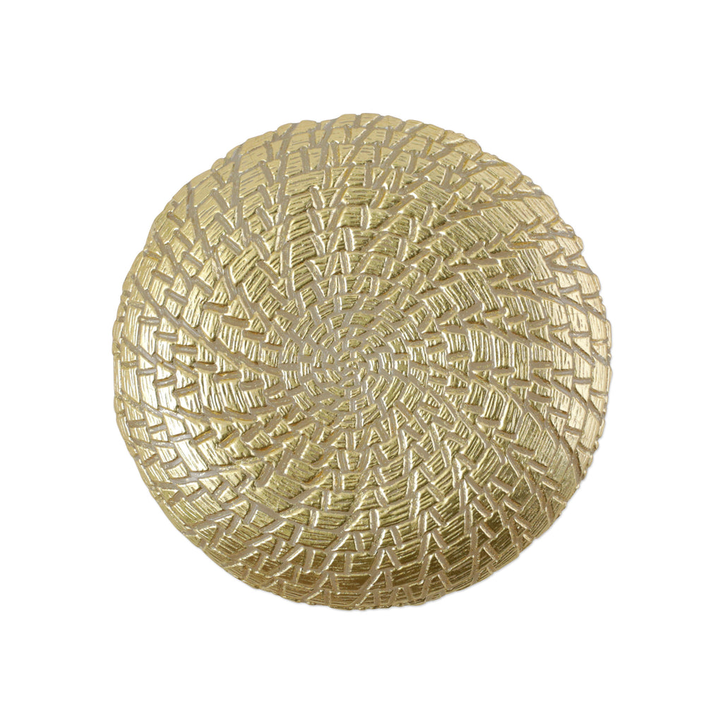 Rufolo Glass Gold Crocodile Salad Plate