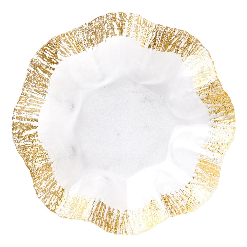 Rufolo Glass Gold Platter