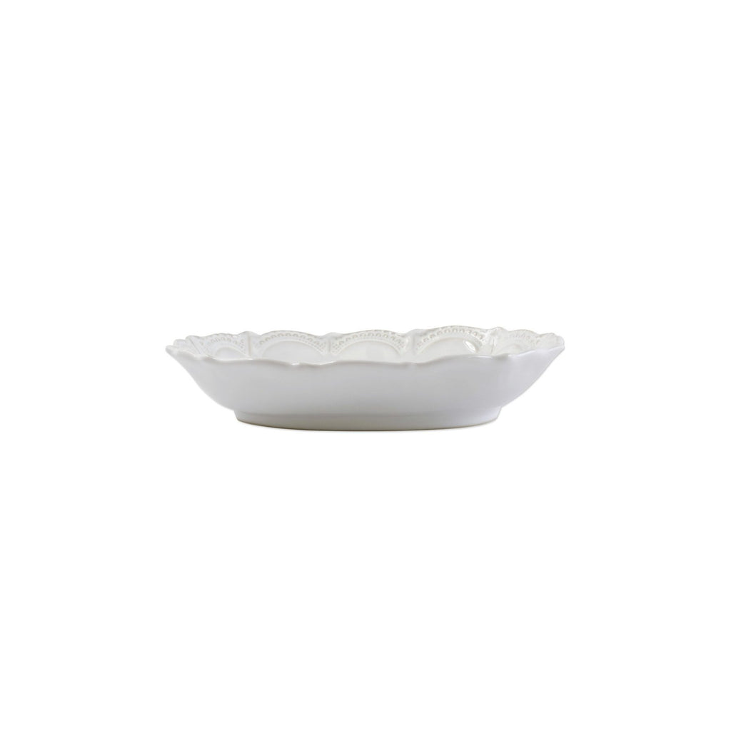 Incanto Stone White Lace Small Oval Bowl