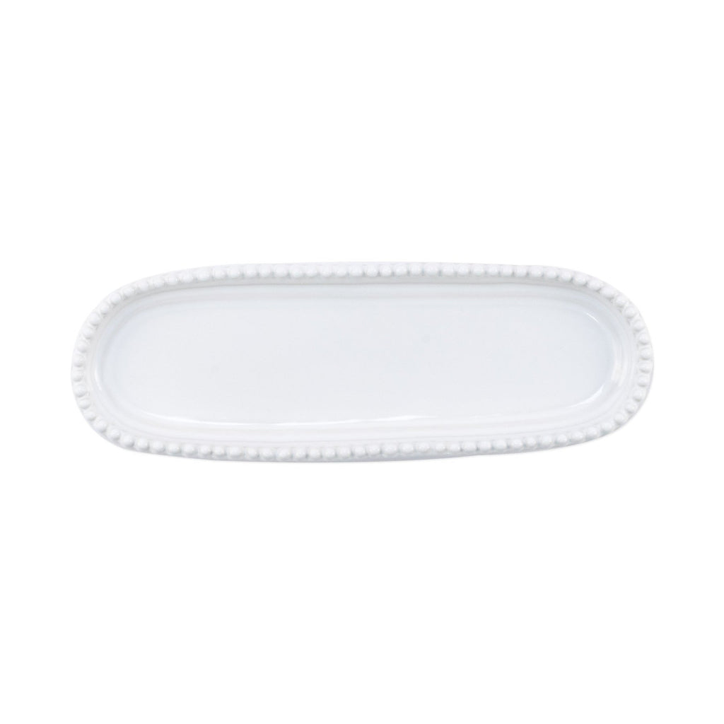 Incanto Stone White Stripe Small Oval Tray