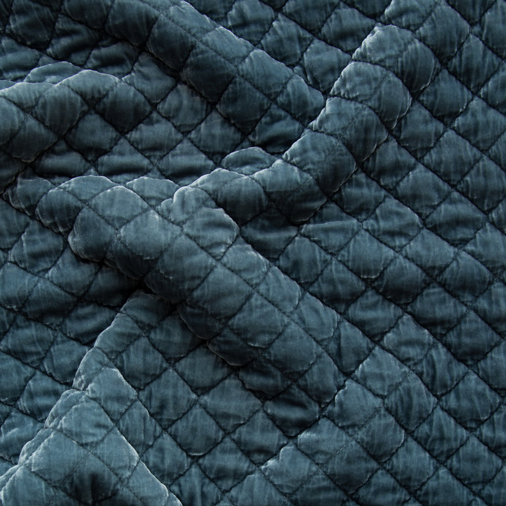 Bella Notte Silk Velvet Quilted Fabric By The Yard