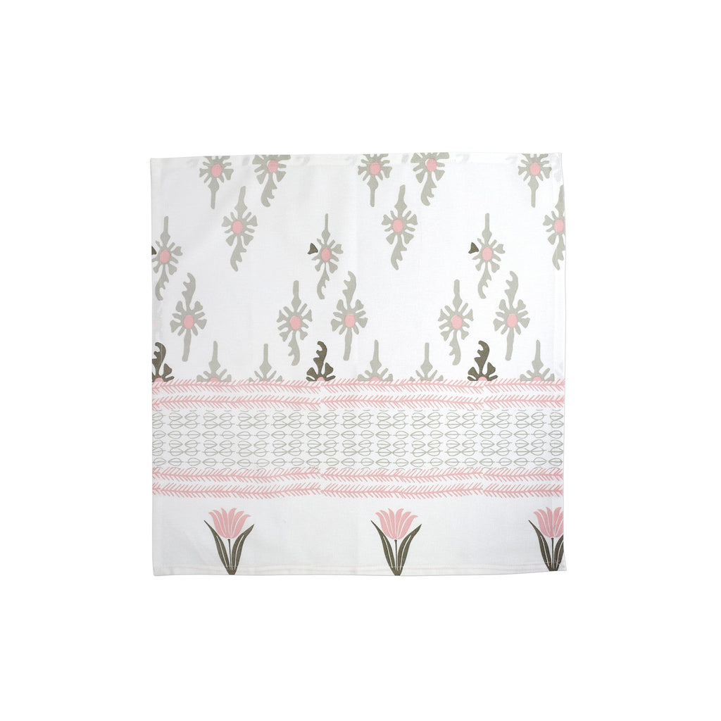 Bohemian Linens Gray/Pink Napkins - Set of 4