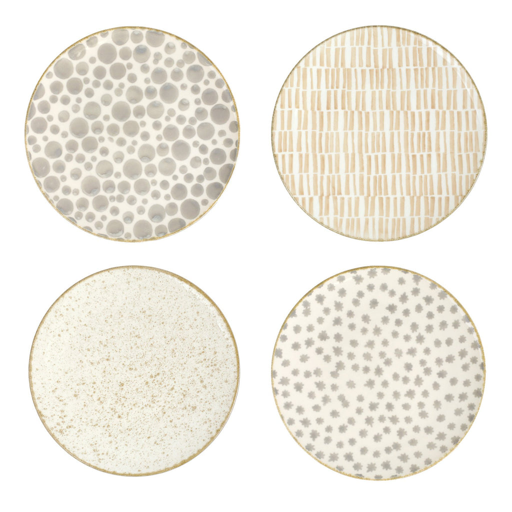 Earth Assorted Dinner Plates - Set of 4
