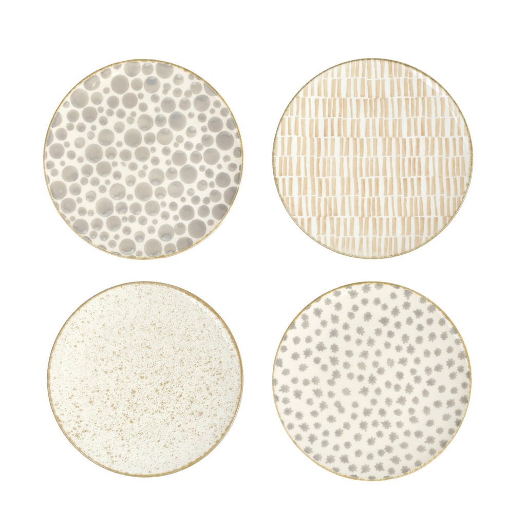 Earth Assorted Salad Plates - Set of 4