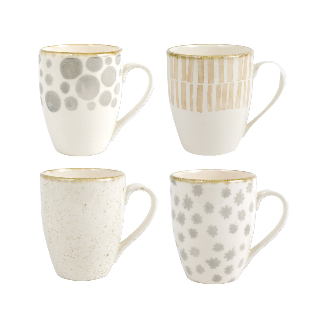 Earth Assorted Mugs - Set of 4