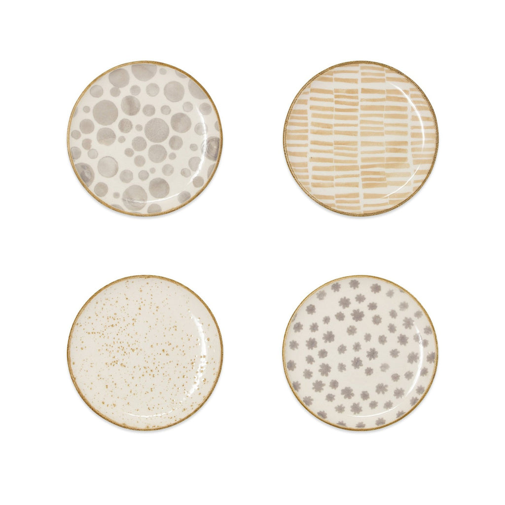 Earth Assorted Cocktail Plates - Set of 4