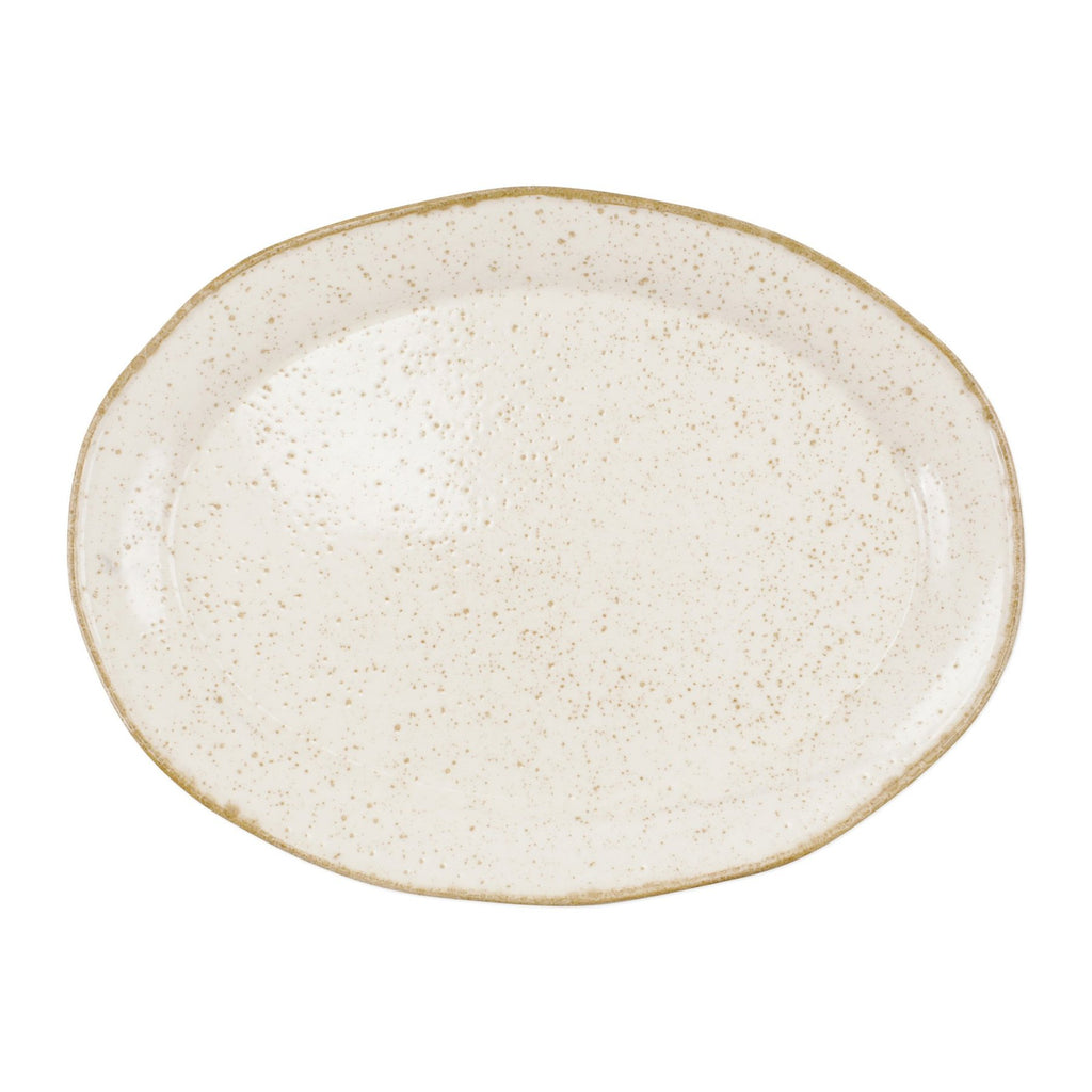 Earth Eggshell Oval Platter
