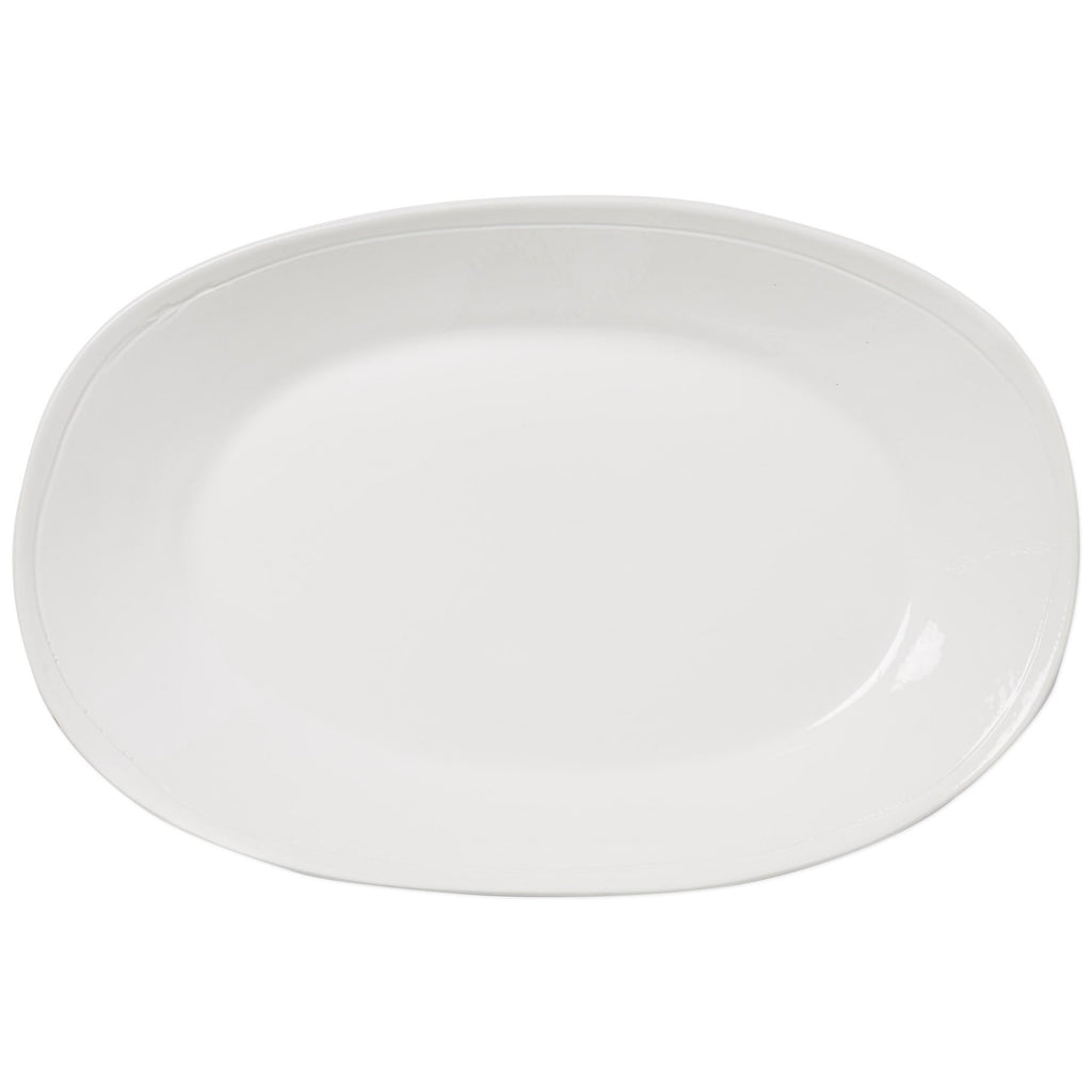 Fresh White Large Oval Platter