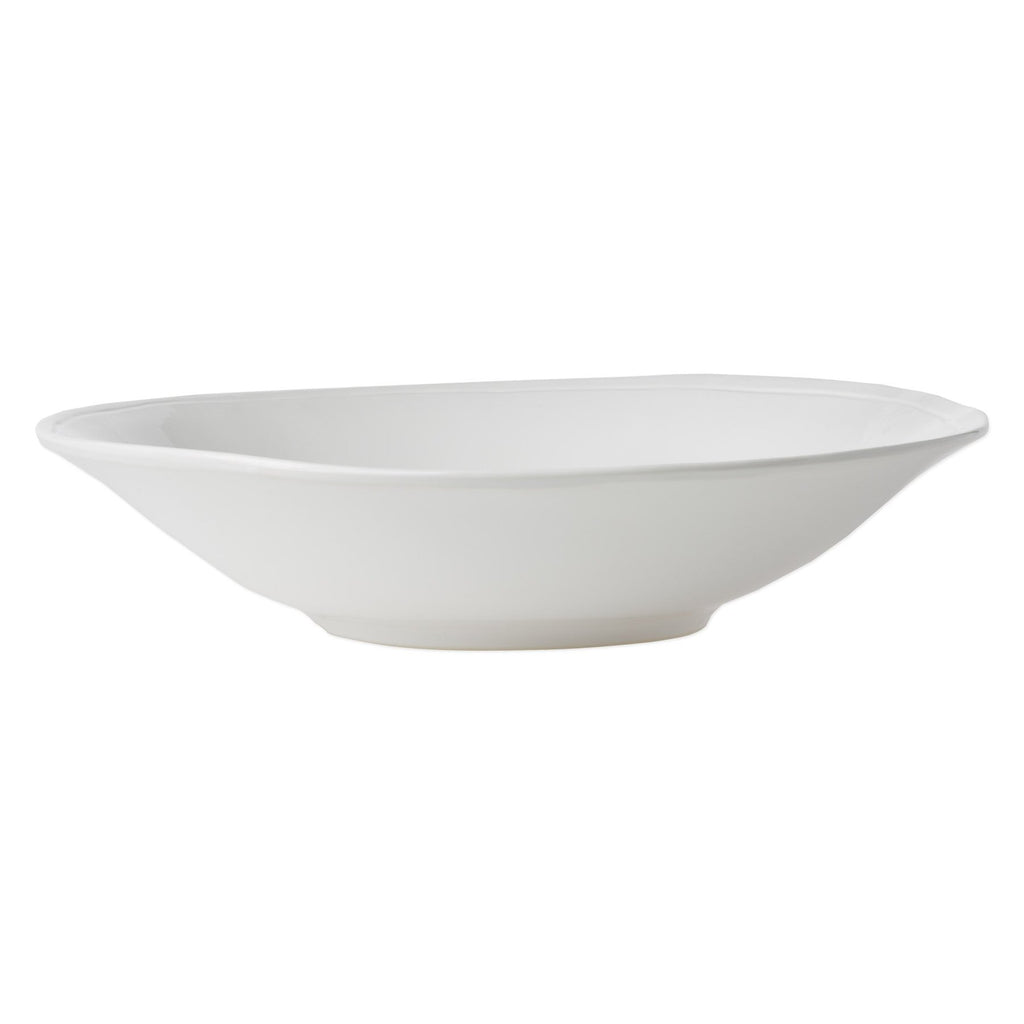 Fresh White Large Serving Bowl