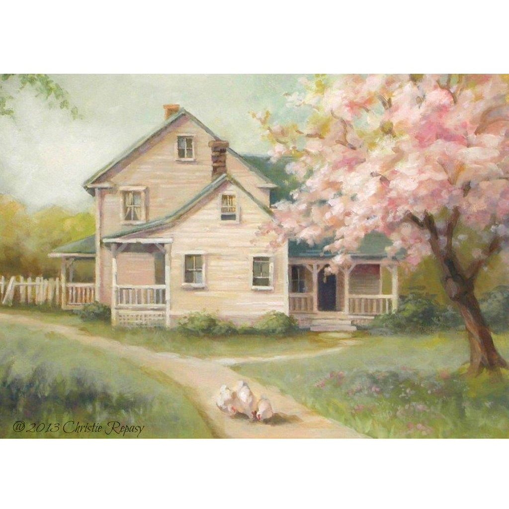 Christie Repasy Cherry Blossom Farm Canvas Giclee Print
