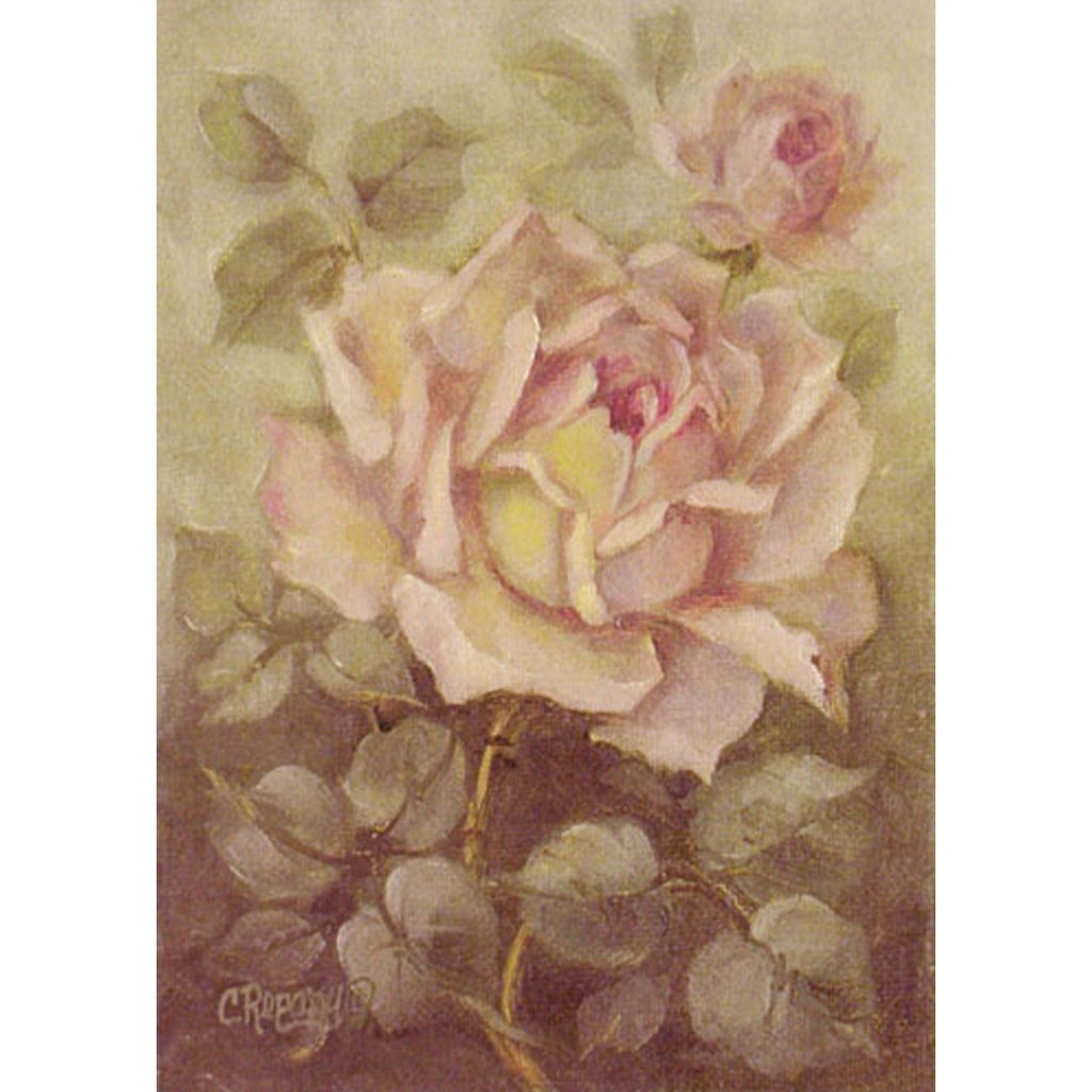 Christie Repasy Blush Pink Rose Inch Original Shabby Canvas Print