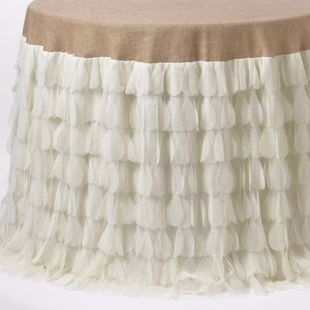 Chichi Petal Ivory Tablecloth