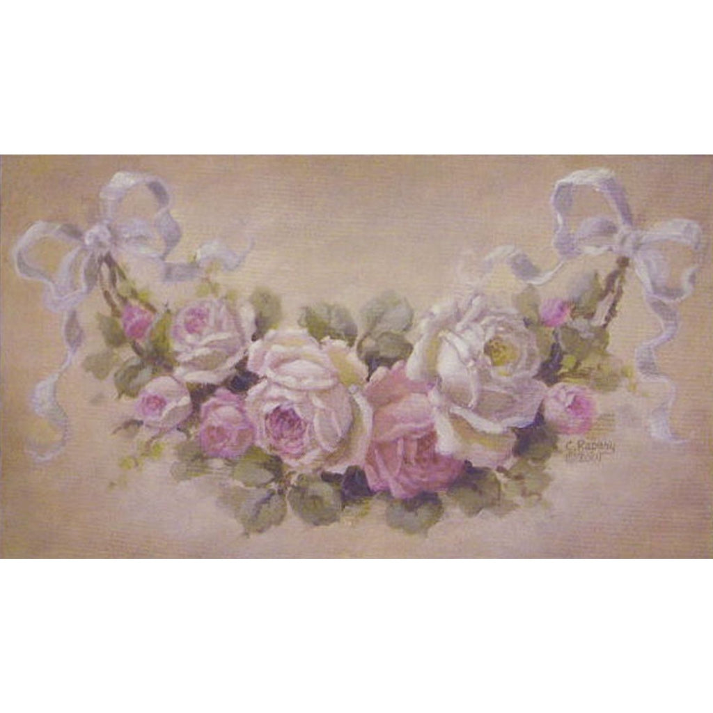 Christie Repasy French Rose Swag Original Canvas Print