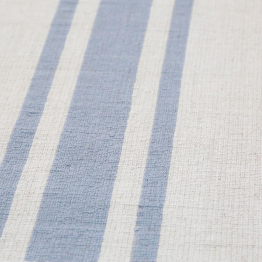 Pom Pom at Home Beachwood Handwoven Rug in Ivory/Nordic Blue