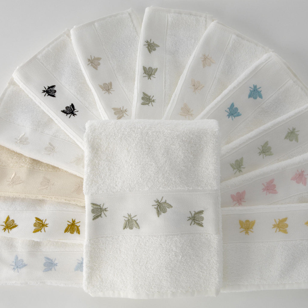 French Bee Embroidered Towel