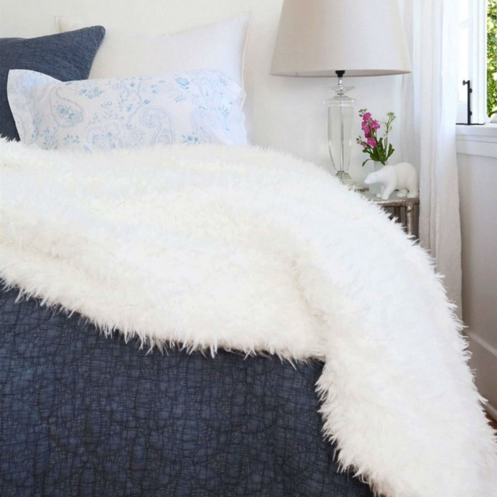 Pom Pom at Home Tula Oversized Throw - White