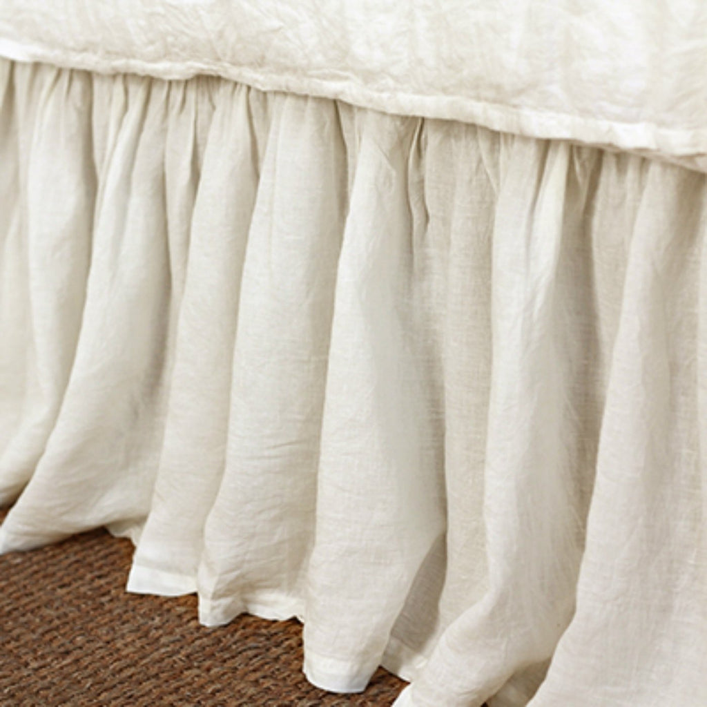 Pom Pom at Home Gathered Linen Bedskirt - Cream