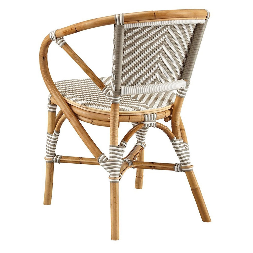 French Style Bistro Chair in Grey