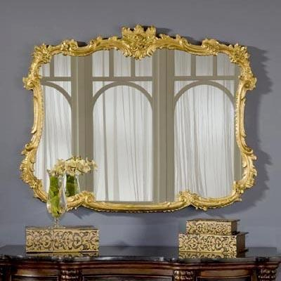 Gold Leaf Buffet Mirror