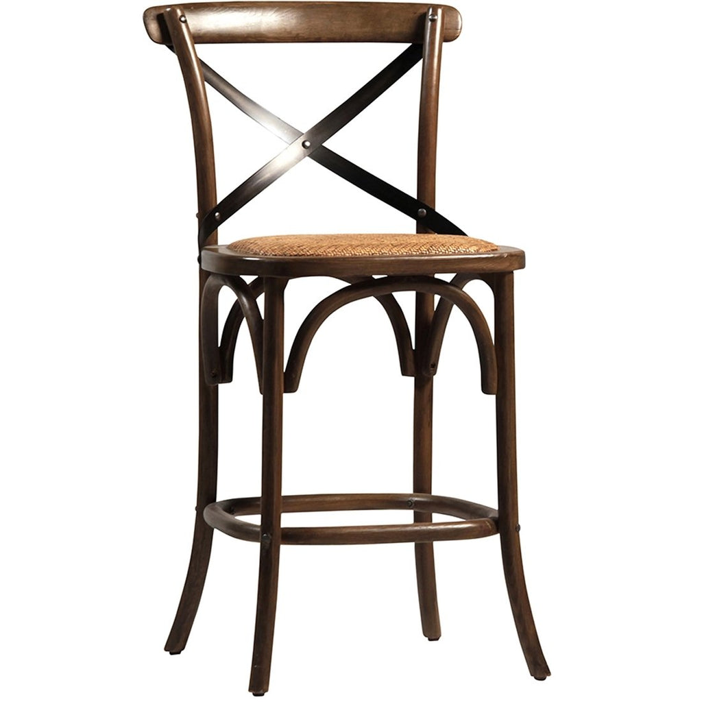 French Cafe Oak Counterstool