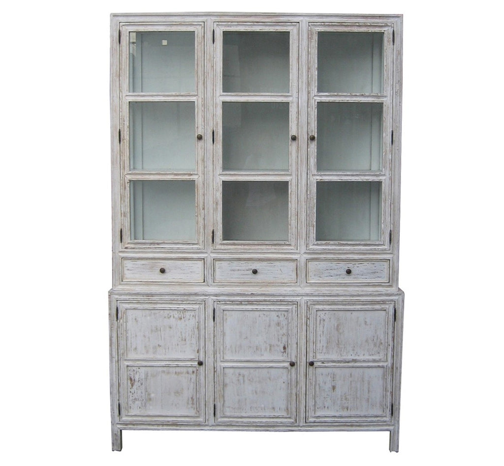 Washington Hutch in White Wash Finish