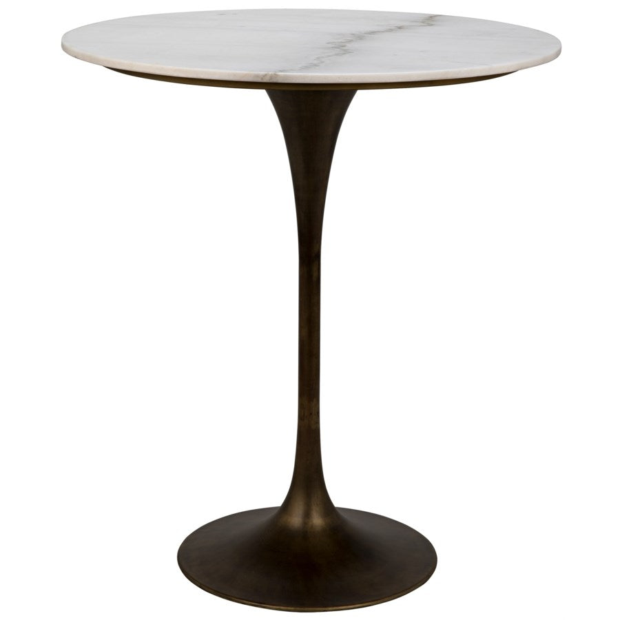 "Laredo Table 36"", Metal with Aged Brass"