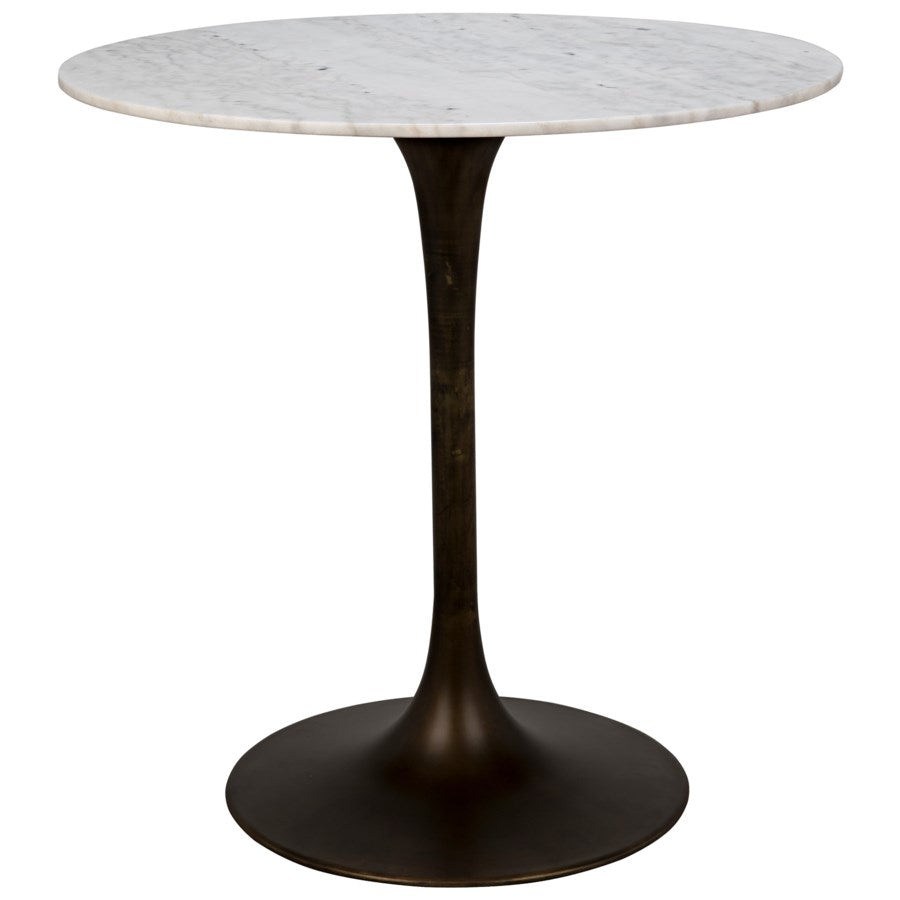 "Laredo Table40"", Metal with Aged Brass"