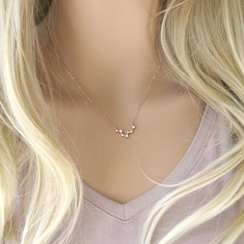 Constellation 14k Rose Gold Filled Zodiac Necklace