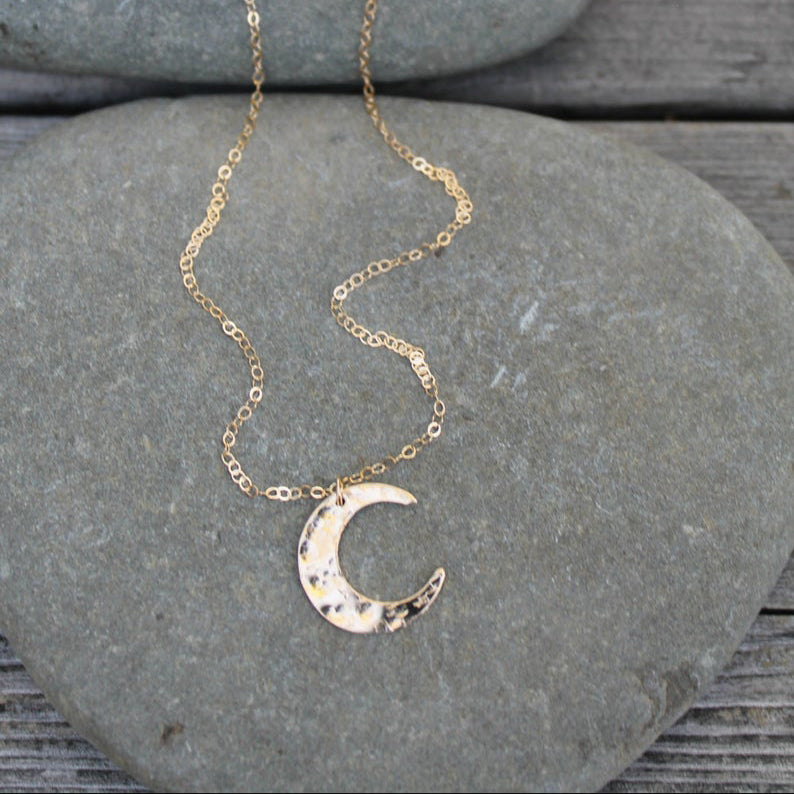 Celestial Moon 14K Gold Filled Necklace