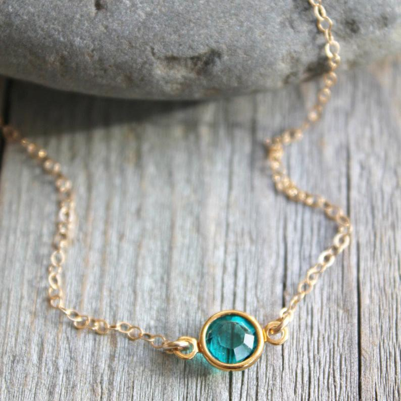 Swarovski Birthstone 14k Gold Filled Necklace