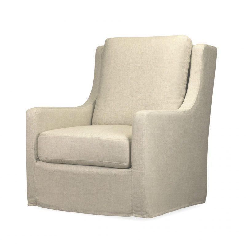 Eliza Slipcover Swivel Chair in Windfield Natural