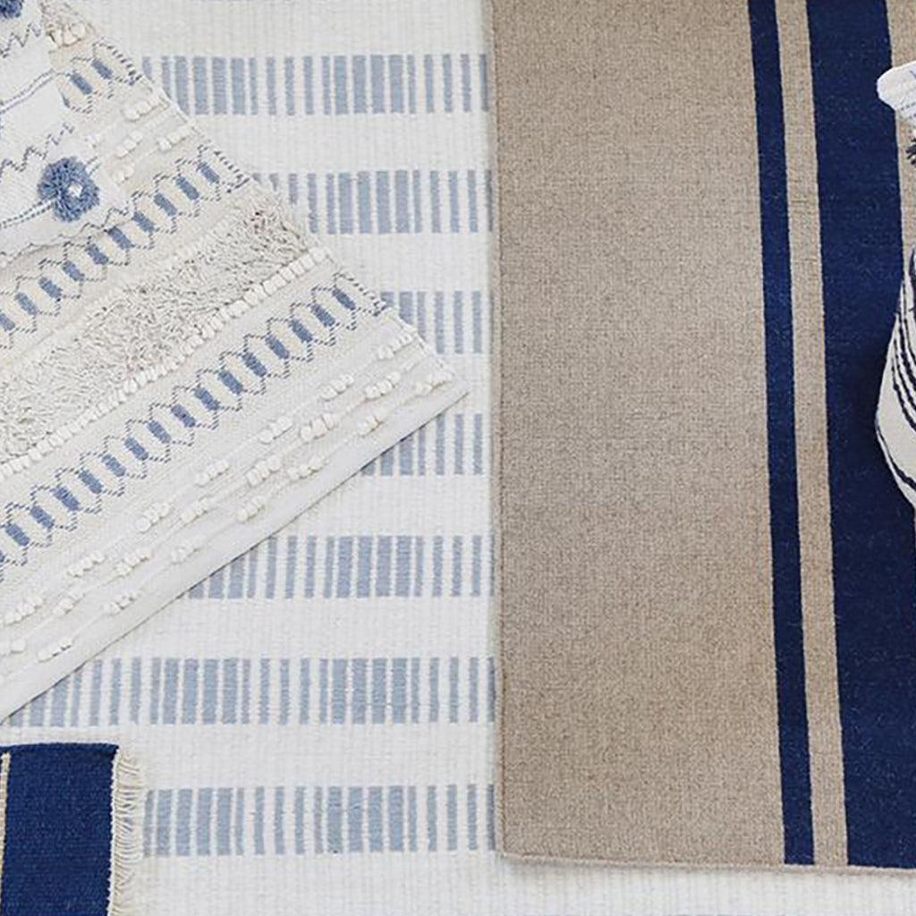 Pom Pom at Home Brooke Handwoven Rug in Nordic Blue