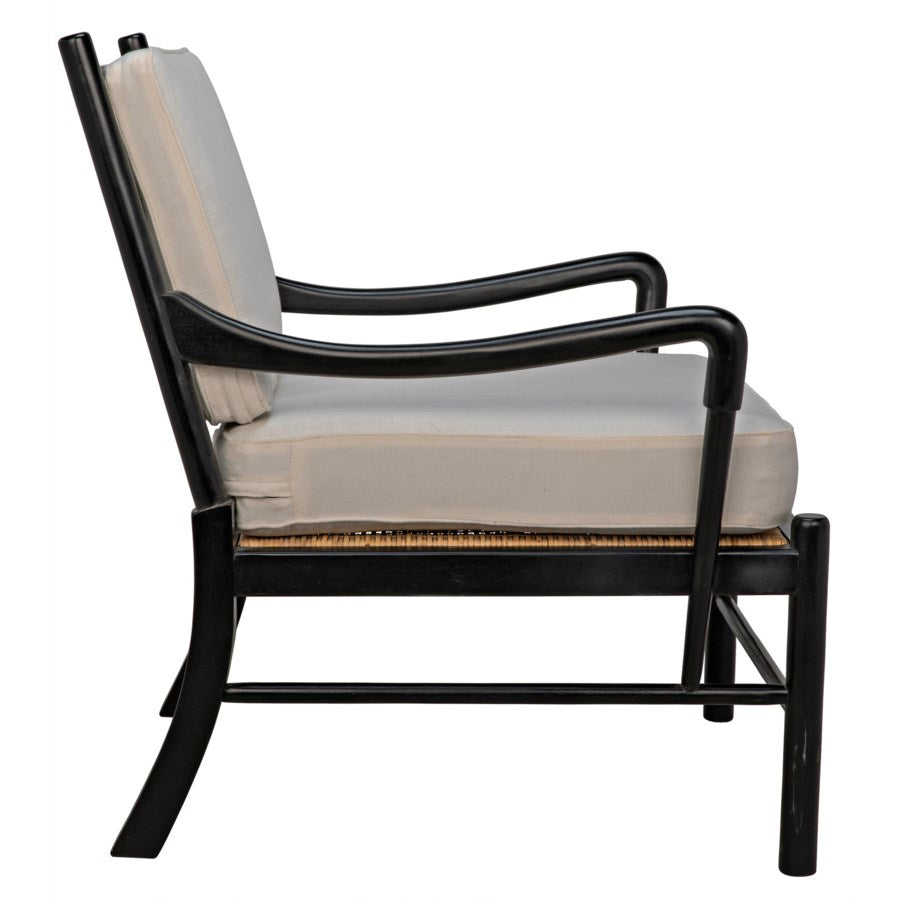 Kevin Chair with Rattan