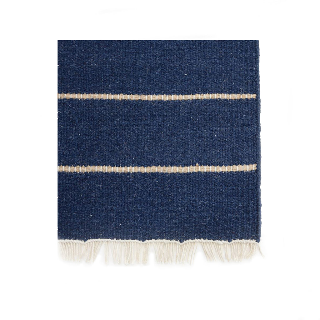 Pom Pom at Home Warby Handwoven Rug in Navy