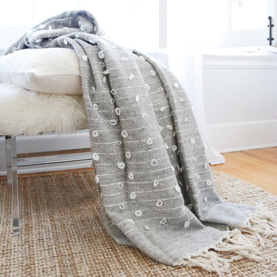 Pom Pom at Home Zaidee Oversized Natural/Grey Throw