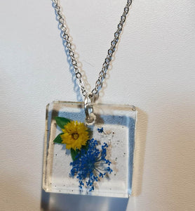 The Botanical Collection: Blue Flower Necklace