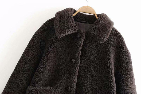Fashion Plush Casual Fur Jacket