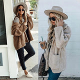 Lapel Loose Double-faced Plush Jacket
