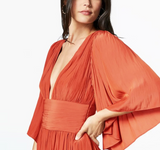 Deep v-neck irregular Bohemian dress