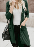 Solid Color Street Button Knit Cardigan-7color