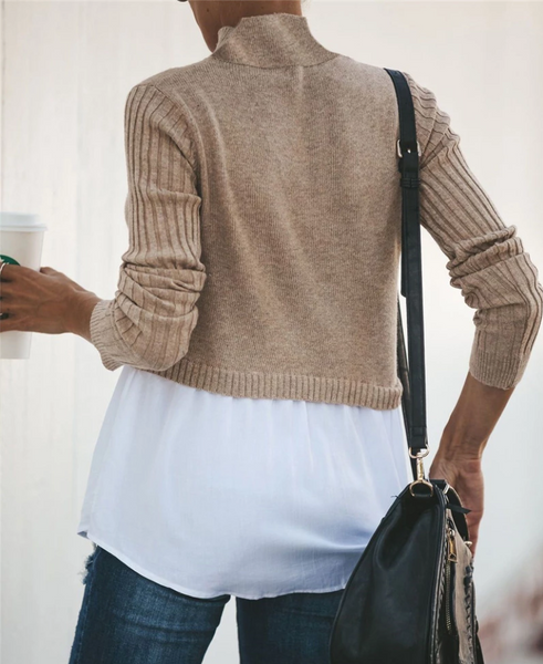 Splicing Street Blouse Sweater-2color