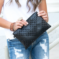 Personalized Rivet Messenger Bag Clutch
